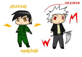 Oliver and Slashedz by pickleduck3