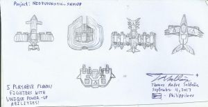 Unnamed Futuristic Shmup - Playable Fighters by tambok0599