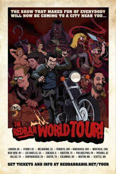 Red Bar Radio world tour poster by svenstoffels