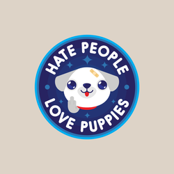 Hate People, Love Puppies by j3concepts
