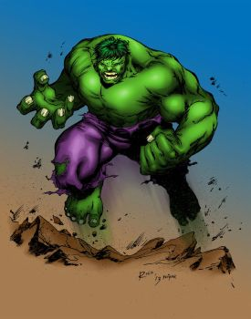 Hulk Inks By Devgear Coloured by lancedART
