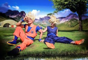 Goku and Gohan - Dragonball Z by NomesCosplay