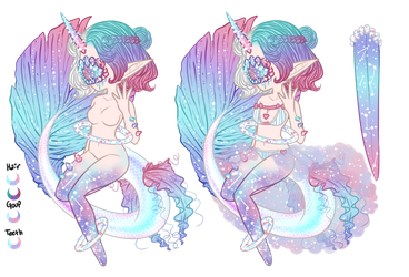 Mermay: Xynthii Adopt: Day 21: Celestial: CLOSED by ObsceneBarbie