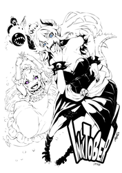 Inktober 01 Bowsette x Booette x Chompette by ComiPa