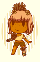 Peaches (Tiny Chibi thing) by kangaroo722