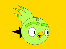 lime bird by sack-dude
