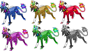 Adoptables 3 [0/6] Open (Sirisola Galaxy Pups.) by SushiTank
