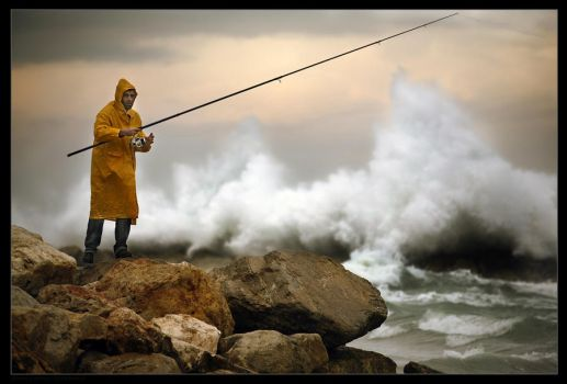 Stormy Fishing by gilad