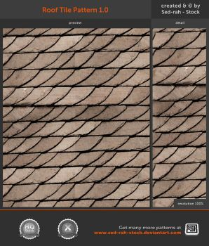 Roof Tile Pattern 1.0 by Sed-rah-Stock