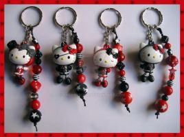 Hello Kitty Keychains 1 by cherryboop