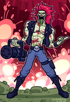 COMMISSION: zombie rocker man by Cubesona