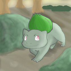 Pokemon No. 001: Bulbasaur by Nefepants