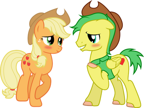 Applejack and James Thunder by ShadyHorseman