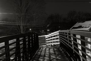 Cold frigid night in the small town. by Eviktion