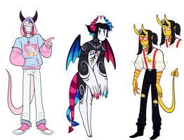 DEMON ADOPTABLES (0/3 CLOSED) by VaporVVaves