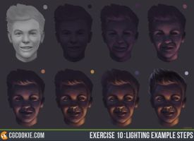 Exercise 10 : Lighting Example Steps by CGCookie