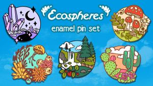 35 Hours Left!  Enamel Pin Kickstarter Almost Over by CrystalCurtisArt