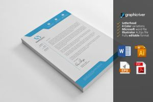 Letterhead with MS word format file by Cristalpioneer