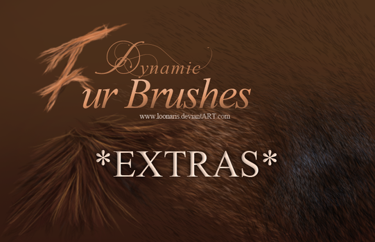 Dynamic FUR Brushes for Photoshop *EXTRAS* by Loonaris