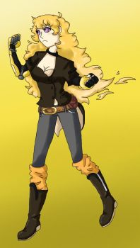 Yang New Outfit by ShadowCatGamer