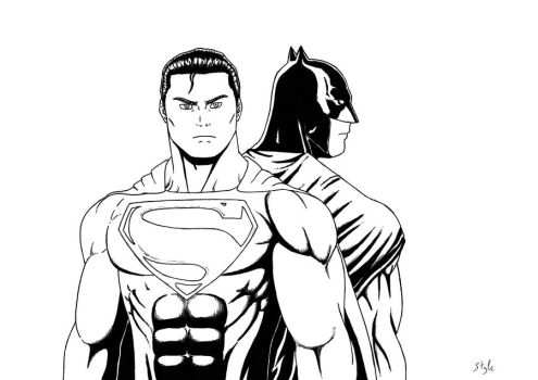 Batman-Superman by The-Masterstyle