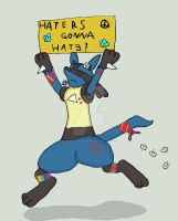 Lucario: Haters gonna hate by Fangy-From-Shadow