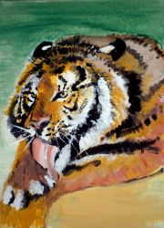 Tiger hurt by Ewlor