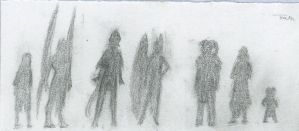 Concept: Character Silhouettes by DreamingFoxfire