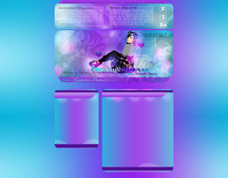 Cherry Universe's newest layout with Demi Lovato by BrielleFantasy