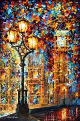 London's Dreams by Leonid Afremov by Leonidafremov