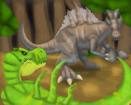 Prehistoric Faceoff by Zangor17