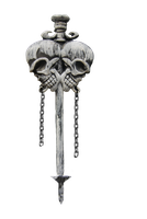 skull pick or sword PNG STOCK by KarahRobinson-Art