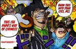 One Piece Chapter 886 Capone Bege vs Oven Colors by Amanomoon
