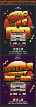 Retro Party Flyer Template by Hotpindesigns