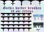 Gothic border brushes by jojo-ojoj