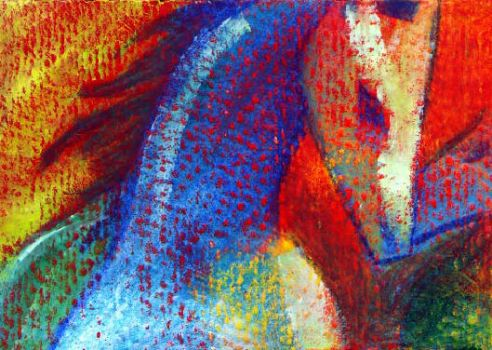 horse ATC by colorfauna