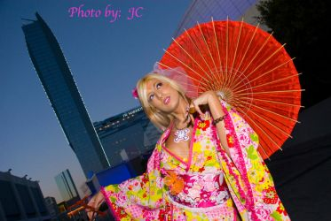 Kimono Pink Orange portrait by MyCosPlayPhotos