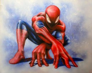 Spiderman painting by NoHawk