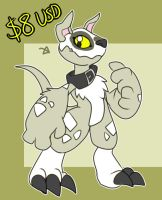 [a] pitbull digimon [SOLD] by glitchgoat