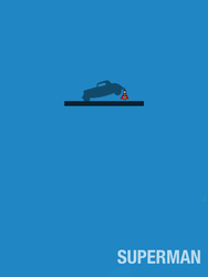 Minimalist Superman v3 by haydenyale
