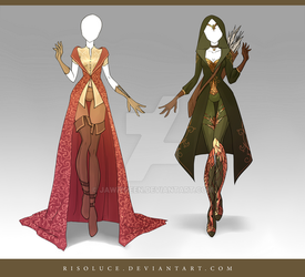 (CLOSED) Adoptable Outfit Auction 117-118 by JawitReen