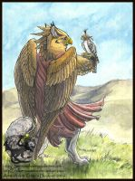 Gryphon Tarot - Mastery (Strength) by silvermoonnw