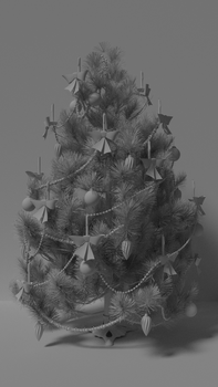 Christmas Tree Progress 001 by kbmxpxfan