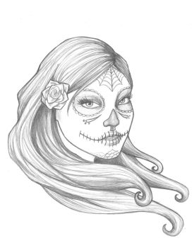 Day of the Dead sketch by badash13