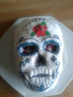 Day of the Dead Skull Cake by bozrena