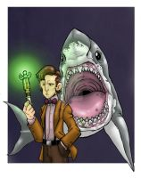 The Doctor and the Shark by badgerlordstudios