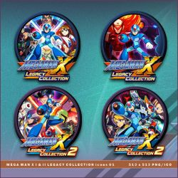 Mega Man X Legacy Collection I and II icons by BrokenNoah