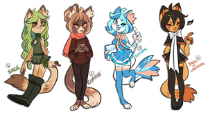 Fall Adopts 4 ( CLOSED) by Snorechu