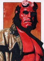 Hellboy - Sketch Card by J-Redd