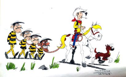 Lucky Luke and the Daltons by LewisDaviesPictures